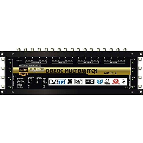 Digital Multischalter 17 / 8 17/8 mit Netzteil für 8 Teilnehmer HQ HDTV 3D sky Multiswitch