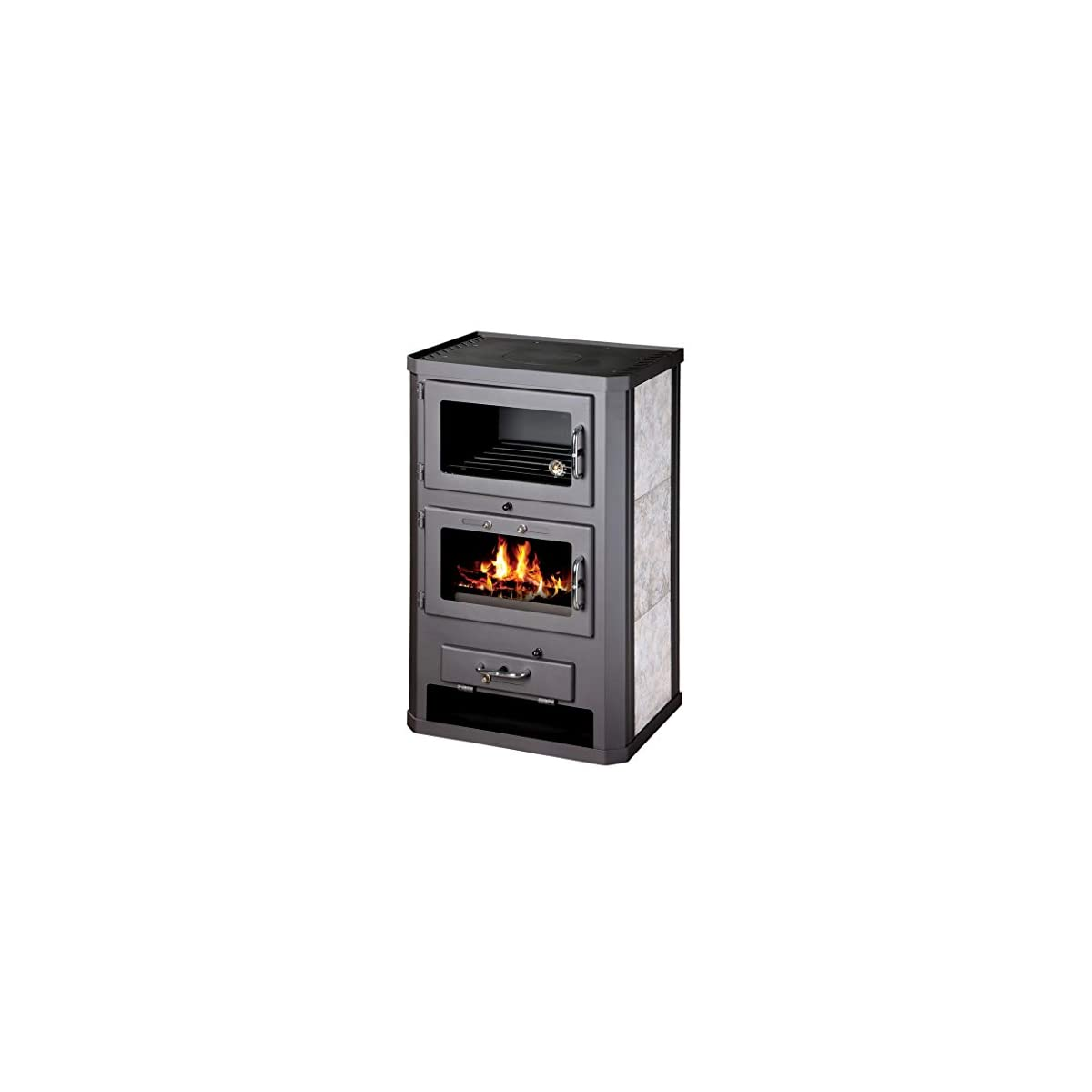 41LNczLiCOL. SS1200  - Estufa de leña para estufa, estufa, cocina, combustible, quemador de leña, 12/17 kW, BImSchV 2