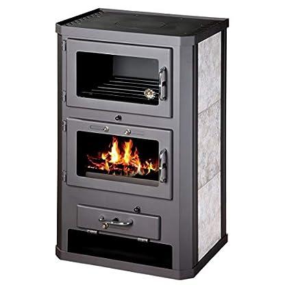 41LNczLiCOL. SS416  - Estufa de leña para estufa, estufa, cocina, combustible, quemador de leña, 12/17 kW, BImSchV 2