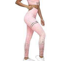 Modaworld _Leggins Mujer Mallas Deportivas Mujer Puntos Leggings Fitness Pantalones Deportes Gimnasio Correr Yoga Atlético Chandal Polainas Pantalón Push up