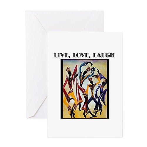 CafePress–Live, Love, Laugh. Png–Grußkarte, Note Karte, Geburtstagskarte, innen blanko, matt