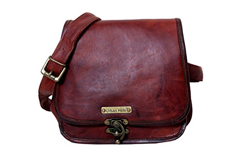 - 41LNdH9FnqL - Handmade Genuine Leather Ladies Satchel Purse Handbag, Leather Messenger Bag for Women – Free Gift