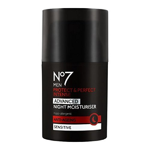 Boots No7 MEN Protect & Perfect Intense ADVANCED NIGHT Moisturiser ANTI-AGEING Sensitive 50ml-FOR YOUNGER LOOKING SKIN IN JUST 2 WEEKS