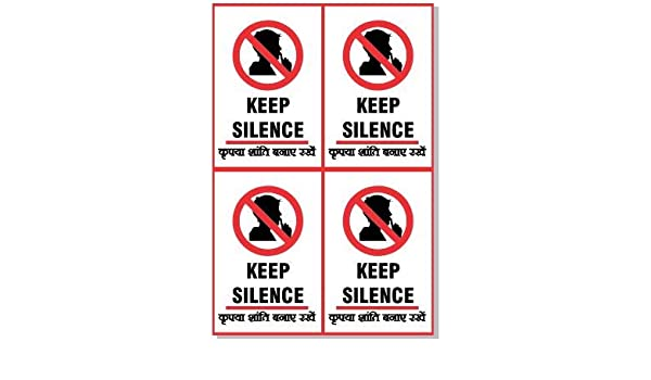 Green Panda Keep Silence 3m Vinyl Decals Each Size Of 6in X9 Inch