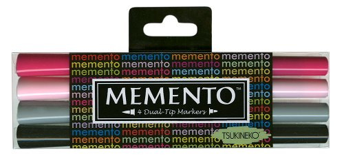 Girls' Night Out Memento Dual-Tip Markers 4/Pkg PM-100-6 -