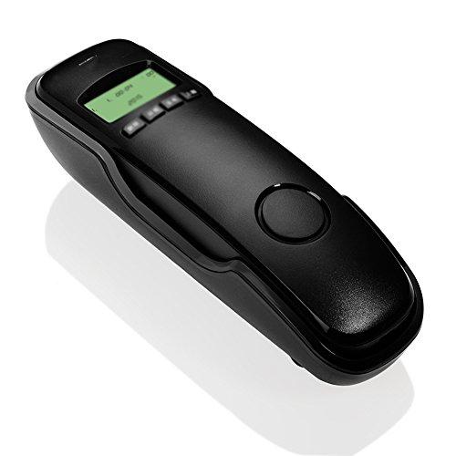 DQMSB Teléfono de Pared teléfono Fijo Fijo identificador de Llamadas Oficina hogar Hotel Moda teléfono (Color : Negro)