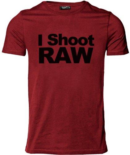 Stylotex Herren Slimfit T-Shirt I Shoot Raw, Größe:M;Farbe:rot -