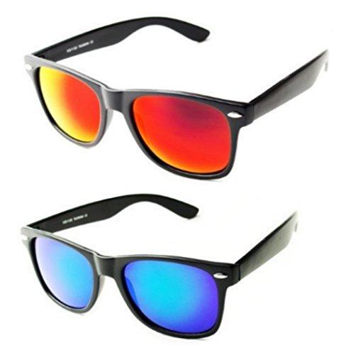 PURECITY Nerd Sonnenbrille Wayfarer Stil Nerdbrille Retro Vintage Look - 100% UV400 Norm CE -...