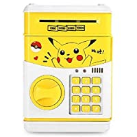 Pokemon Pikachu Electronic Yellow Piggy Bank Saving Pot Money Bank Coins Cash