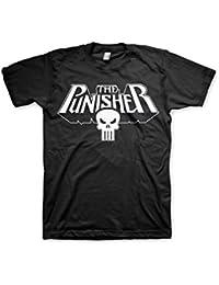 Officiellement Marchandises Sous Licence Marvel Comics The Punisher Logo 3XL,4XL,5XL Hommes T-Shirt (Noir)