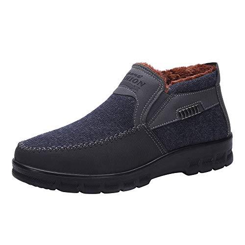 EU39-EU46 ODRD Schuhe Winter Herren Baumwolle Schuhe Verdickung Plus Samt warme Freizeitschuhe Stiefel Stiefeletten Wanderstiefel Combat Hallenschuhe Worker Boots Laufschuhe ()