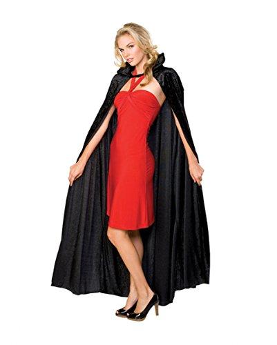 Dracula Cape schwarzer Crush (Kostüm Biss Vampir Opfer)