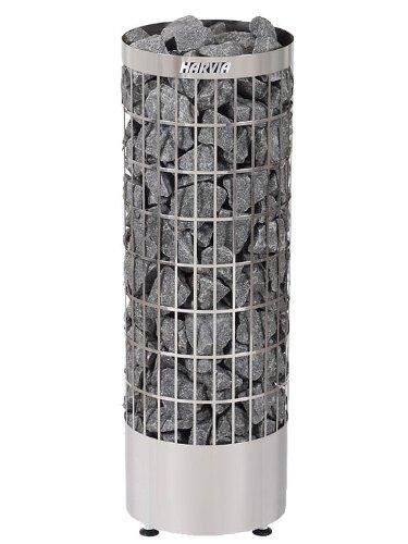 Harvia Cilindro Saunaofen - PC90E 9,0 kW wird separates Steuergerät benötig, Farbe: Edelstahl