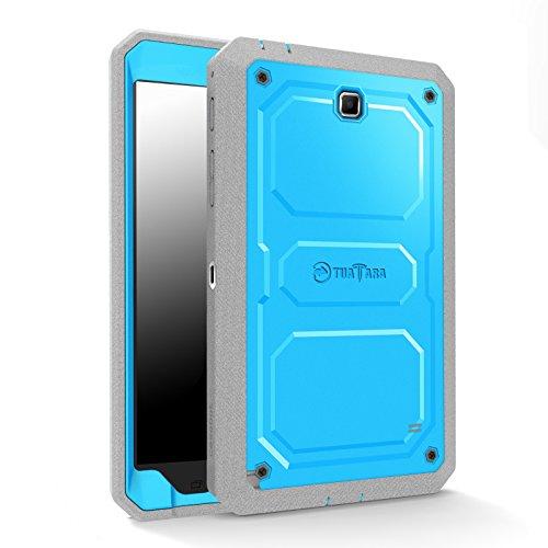 Fintie Samsung Galaxy Tab 4 7.0 Hülle - [Tuatara Serie] Hybrid Dual Layer Vollschutz Case Tasche Schutzhülle mit Integriertem Displayschutz und Schlagfesten Stoßstangen für Samsung Galaxy Tab 4 7.0 SM-T230 / T235 Tablet (Galaxy Tab 4 7.0, Blau)