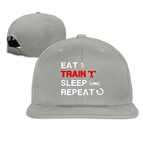 Tank Adjustable Train Jiekeio Caps Sleep Men's Baseball Gym Hat Repeat Funny Eat Fitness Apparel Cap Hats 0Nm8wOvn