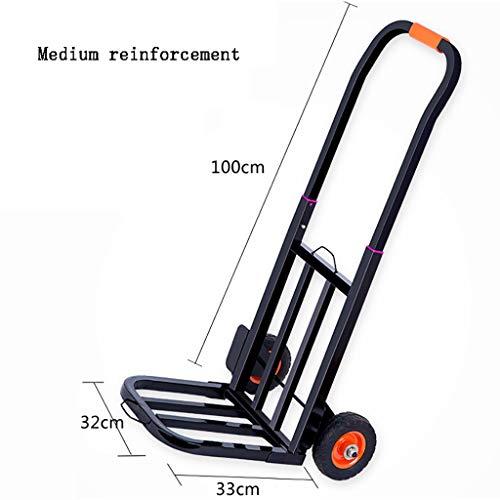 Einkaufstrolleys Haushalts-Einkaufswagen-Anhänger Gepäckwagen-Laufkatze Pull-LKW-faltender tragbarer Tellerwagen-Einkaufslaufkatze (größe : D)