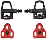 Exustar Keo Pedals and Cleats - (Black/ Red)
