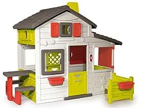 Smoby 310209 - Jeu de Plein Air - Maison de Jardin - Friends House - Sonnette Electronique Incluse