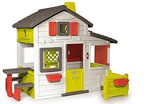 Smoby-310209 Casa Friends, Color Blanco, Verde y Gris, 149.9 x 84.8 x 39.9 (310209)