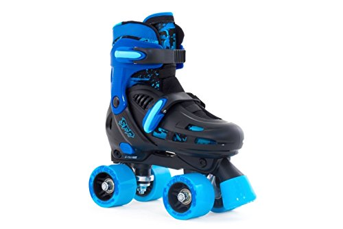 SFR Storm II Quads Adjustable Children's roller skates Black/Blue, 35.5-39.5