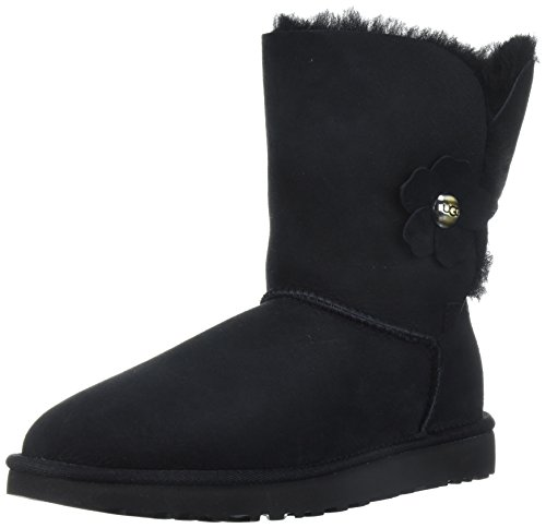 Ugg Bailey Button Poppy Größe 38 Schwarz (schwarz) - Bailey Button Black Boot