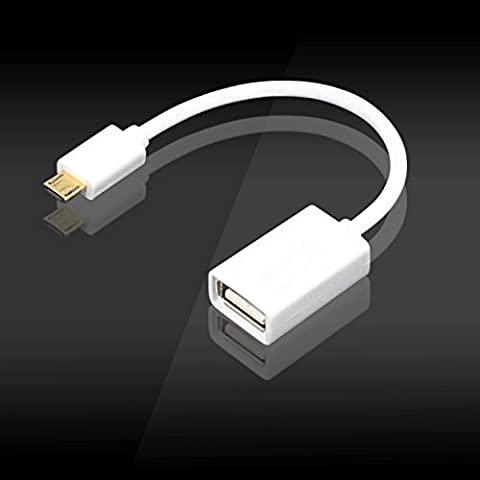 GOOQ Micro USB 2.0 On The Go Adapter - Male Micro USB to Female A USB OTG Host Adapter Cable for Samaung Galaxy or Note series/Sony/Motorala/Nokia/Lenovo Yoga/Thinkpad/HTC Android Smart Phone or Tablet with OTG Function