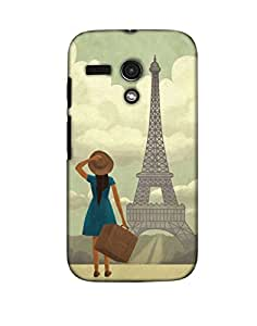 Pick Pattern Back Cover for Motorola Moto G (3rd gen) (MATTE)