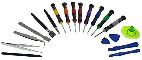 Smartfox 18 teiliges Werkzeug Kit Schraubenzieher Reparatur Torx Tool für Smartphone, Laptop, Apple iPhone 4, iPhone 5, iPhone 6, Samsung, HTC, Blackberry und weitere Geräte