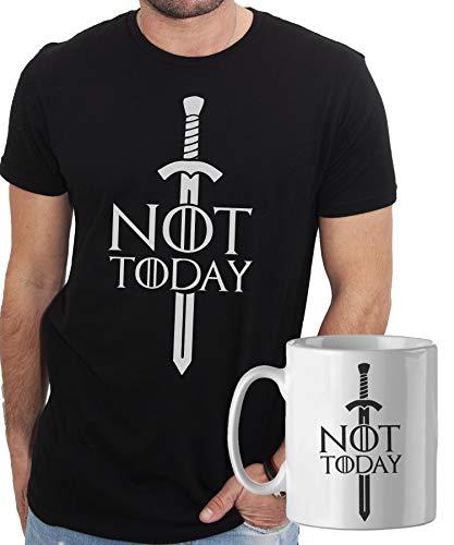 iMage Promo T-Shirt con Tazza Mug Abbinata Arya Cosa Diciamo al Dio della...