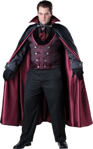 Men's Plus Size Midnight Vampire Fancy dress costume 2X