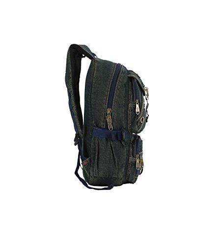 SZH Nero / Blu Canvas Shoulder Bag Arrampicata Campeggio Alpinismo zaino in spalla , blue Blue