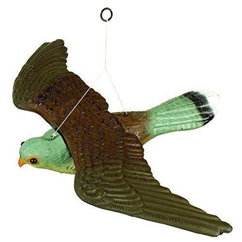 HHH HUNTING Fliegend Falke Lockvogel Vogel Abschreckungsmittel,Lebensechte Und Realistische Mit Aufhäng Schnüre,Voll Körper Ungezieferkontrolle Garten Katze Und Vogelabweiser -