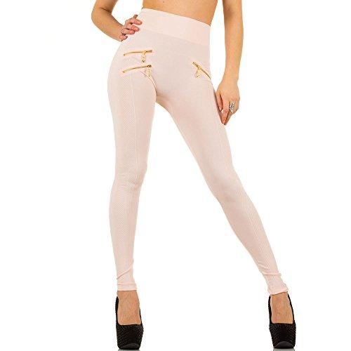 Damen Leggings, SHAPEWEAR HIGH WAIST ZIPPER LEGGINGS, SS-BF93065 Rosa