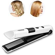 3 colores Mini recargable inalámbrico secador de cabello pelo Flat Ironing belleza Styling Herramienta