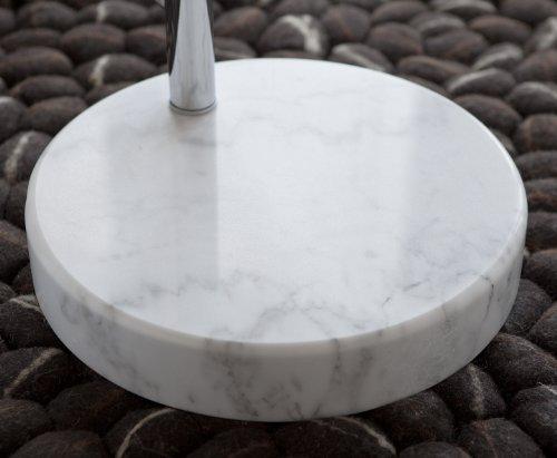 Steh-Lampe weiß mit Dimmer und Fuß aus Marmor 213x165 cm | Big Mess | Steh-Leuchte höhenverstellbar mit verchromten Metall | Bogen-Lampe für Wohnzimmer 213cm x 165cm - 4