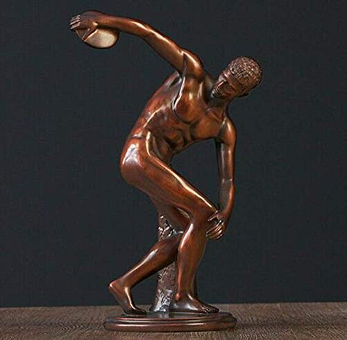 AMITD Statue Skulptur Art Deco Skulptur Diskuswerfer Harz Männer Statue Figur, 02