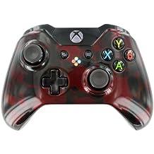 """Dark Red Skulls"" Xbox ONE Custom UN-MODDED Controller Exclusive Design"