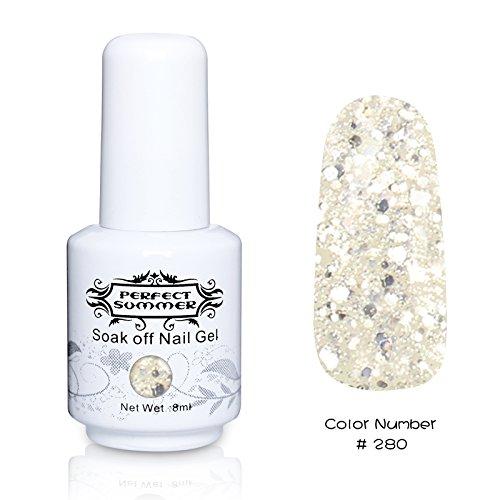 Perfect Summer 1pcs 8ml Vernis à Ongles Semi-Permanent UV LED Soak Off Gel Nail Polish #280