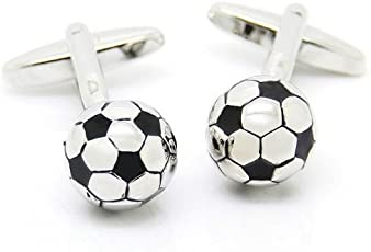 TRIPIN Cufflinks for Men Branded Silver Football Shape Design for Office Corporate Wedding Party French Cuff Shirts Shirt Suit Blazer in A Gift Box