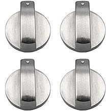 4 Piezas 8mm Cocina de Gas Botones de Control Adaptadores Universal Plata Metal Horno Interruptor Cocina