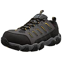 ‏‪Skechers for Work Men's Blais Hiking Shoe, Dark Gray, 7.5 M US‬‏
