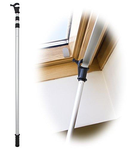 WinHux® Ausziehbare Fenster-Stange, entworfen zur Verwendung für Velux® Dachfenster und Jalousien, 1.2-3.0m Silver