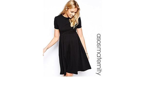 2cbeb4787f80d ASOS Maternity Skater Dress With Slash Neck And Short Sleeves In Longer  Length UK SIZE 8: Amazon.co.uk: Clothing