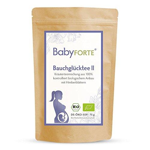 BabyFORTE Bauchglücktee II + 75 g Bio-Tee + Bio-Relaxtee + Himbeerblätter + Frauenmantel