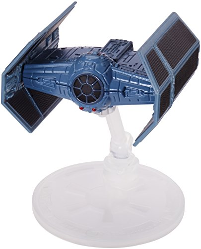 Hot Wheels DXX56 Star Wars Rouge One Raumschiff - Darth Vader s Tie Advanced X1 Prototype