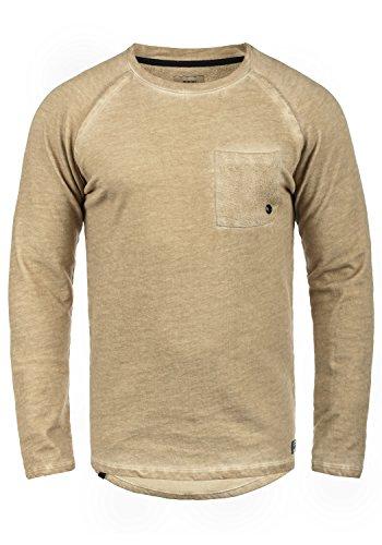 REDEFINED REBEL Mirin Herren Sweatshirt Pullover Sweater mit Rundhals-Ausschnitt aus 100% Baumwolle Dark Sand