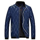 Manadlian Herrenjacke Strickjacke Mantel Stehkragen Reißverschluss Slim Fit Baseball Warmer Winter Jacket