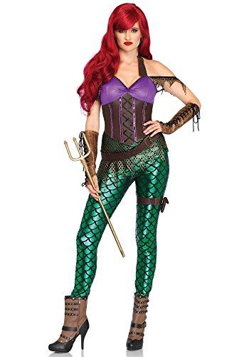 aid Damen-Kostüm von Leg Avenue Meerjungfrau Catsuit Leggings Sexy, Größe:M (Poseidon Halloween Kostüme)