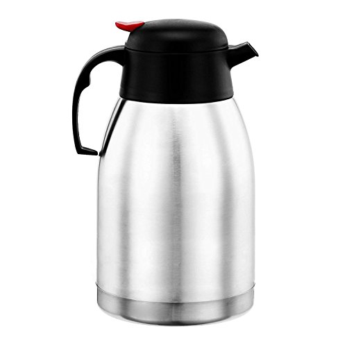 Price comparison product image Oypla 2L Stainless Steel Airpot Insulated Vacuum Thermal Flask Jug