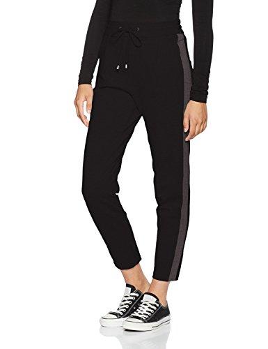Baumwoll-gewebe-panel (VERO MODA Damen Hose Vmdonna Panel Ancle Pants, Schwarz (Black), 40 (Herstellergröße: L))